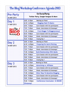 Conference Agenda Chart copy