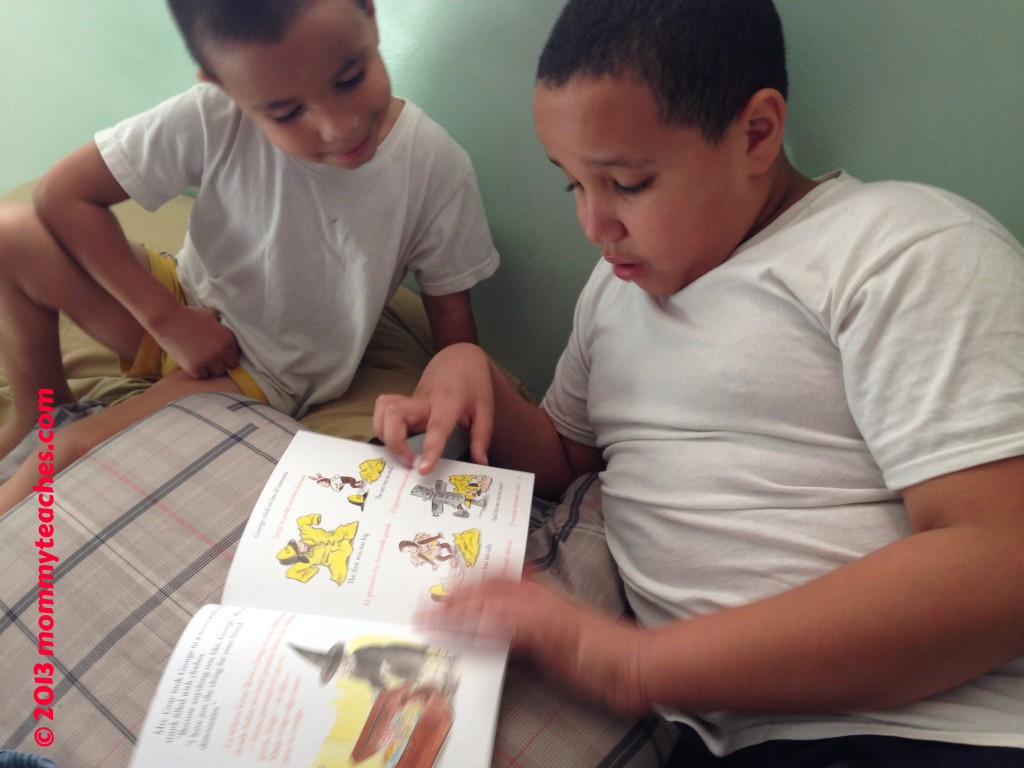 I LOVE to see my oldest reading to his younger brother.