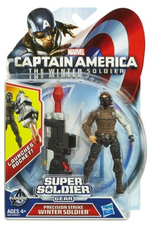 CAPTAIN AMERICA SUPER SOLDIER GEAR WINTER SOLDIER 3.75-Inch Figure In Pack A6816